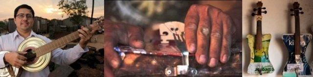 Favio Chavez, Cola et leurs instruments recyclés